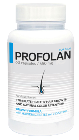 opakowanie preparatu profolan na zagęszczanie włosów dla mężczyzn
